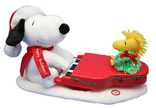 Peanuts SNOOPY AND WOODSTOCK CHRISTMAS ANIMATED/MUSICAL/LIGHT-UP Piano/Plush (2009 (Animated Musical Christmas Tree)