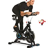 ANCHEER Indoor Cycling Bike, Belt Drive Indoor Exercise Bike with 49LBS Flywheel (Black) Review