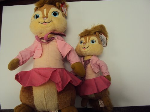 Alvin the Chipmunks - Ty Beanie Buddy & Beanie Baby - Brittany the Chipette 2 Pc Set