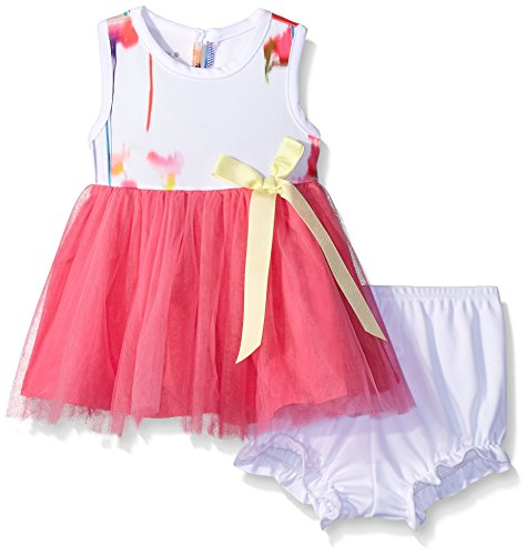 Pippa & Julie Baby Bright Floral Tutu Dress, Multi, 3-6 Months