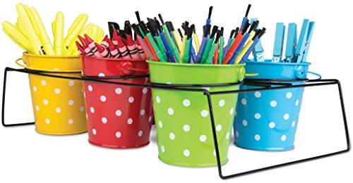 Teacher Created Resources Polka Dot Buckets & Caddy Set, (9487)]()