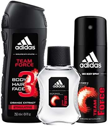 adidas Team Force Gift Set With Body Wash, Eau De Toilette & Deodorant Body Spray