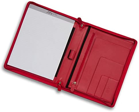 Leftys Zippered Red Left-Handed Eco-Leather Padfolio