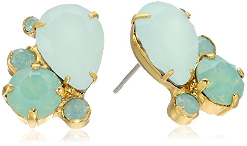 Sorrelli Tilted Teardrop Cluster Post Earrings