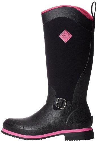 hot Muck negro Pink Escarpines Tall Negro Mujer Boot Reign Yw6x0rYa