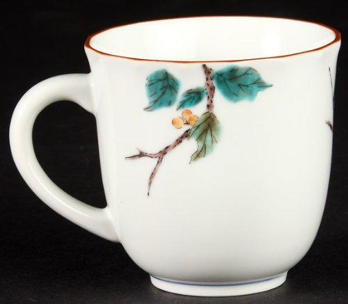 Japanese white-eye Kutani mug Mejiro bird