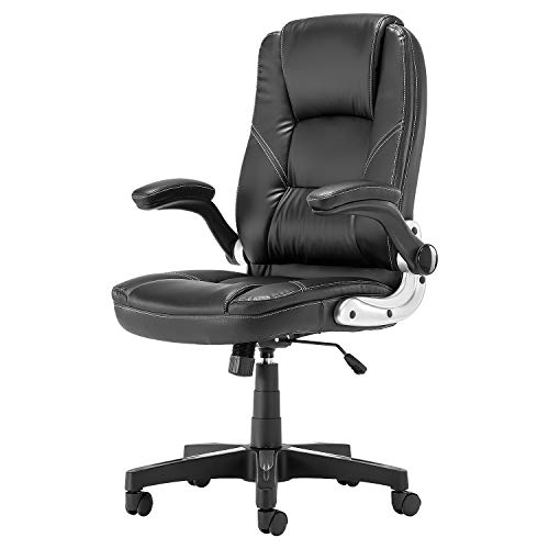 SP Ergonomic Office Faux PU Leather Chair Executive Computer Desk Chairs Managerial Executive Chairs (2088BK)