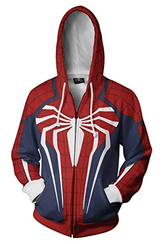 Price comparison product image Newdong Unisex Adult Far from Home Hoodie 3D Printed Sweatshirts Cosplay Costume Jacket Coat (M,  PS4)