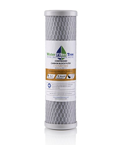 NSF Certified Compressed Carbon Block Filter, CTO Purity MAX,10