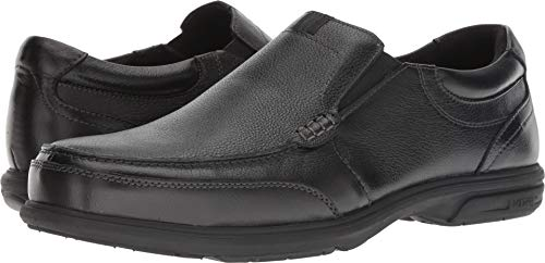 Florsheim Mens Black Leather Work Shoes Loedin Slip-On Loafers ST 11 D ()