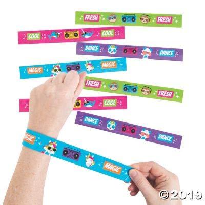 Fun Express Dancing Animals Slap Bracelets - Jewelry - 12 Pieces: Toys & Games