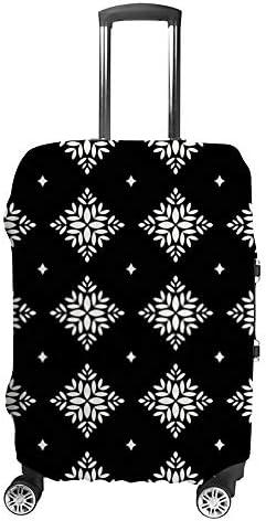 スーツケースカバー 伸縮素材 トラベルダストカバー キャリーカバー 紛失防止 汚れや傷防止 お荷物保護 トラベルダストカバー 着脱簡単 通気性 海外旅行 出張用 便利グッズ 男女兼用 つる花柄