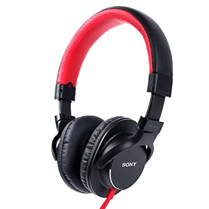 Sony Stereo Headphone Mdr-zx750 Red