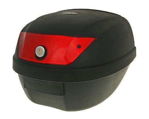 Universal Motorradkoffer Top Case Motorrad Motorroller Quad Koffer schwarz 28L