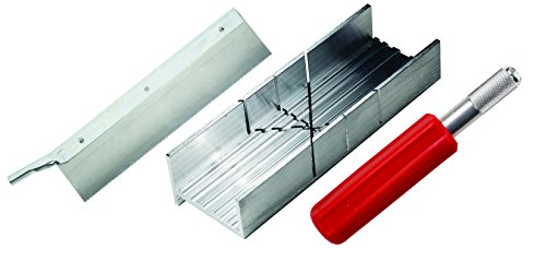 Excel Blades Small Mitre Box Kit with Heavy Duty K5 Handle and Razor Saw Blade