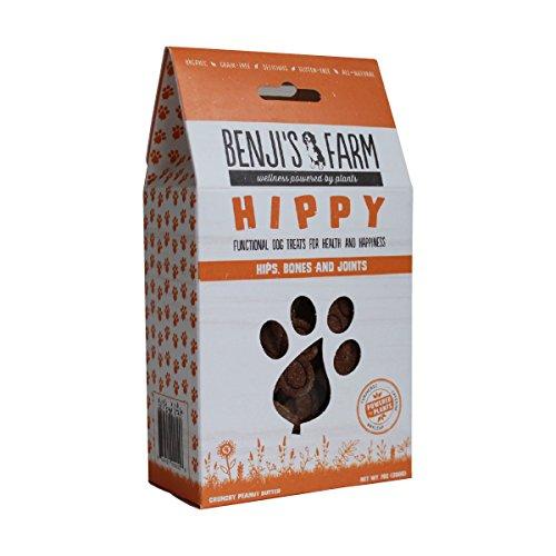 Benji's Farm HIPPY - Organic Functional Dog Treats (Crunchy Peanut (Hippy Dog)