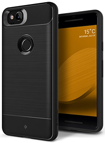 Google Pixel 2 Case, Caseology [Vault Series] Slim Protective Shock Absorbing TPU Rugged Protection Textured Grip for Google Pixel 2 (2017) - Black