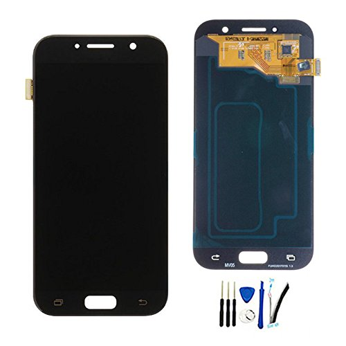 Full LCD Display With digitizer touch screen Assembly For GALAXY A5 A520 2017 SM-A520F A520F replacement parts Black by SOMEFUN (Image #3)