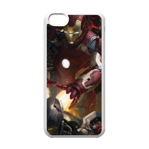 Avengers Age Of Ultron coque iPhone 5C Housse Blanc téléphone portable couverture de cas coque EBDOBCKCO12346