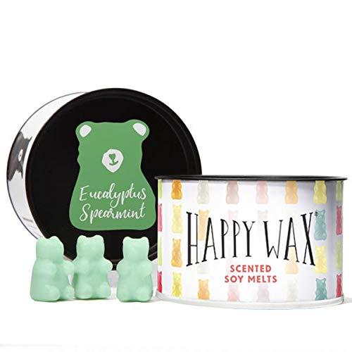 Happy Wax - Eucalyptus Spearmint Scented Soy Wax Melts | All Natural, Bear Shaped, Soy Wax Tarts