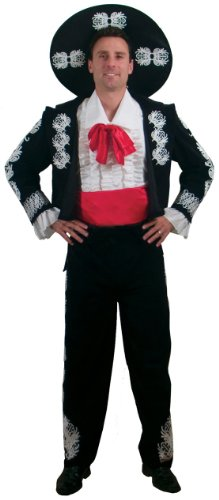 The Three Amigos Costumes (Incogneato Men's The Three Amigos Deluxe Adult Costume X-Large Black)