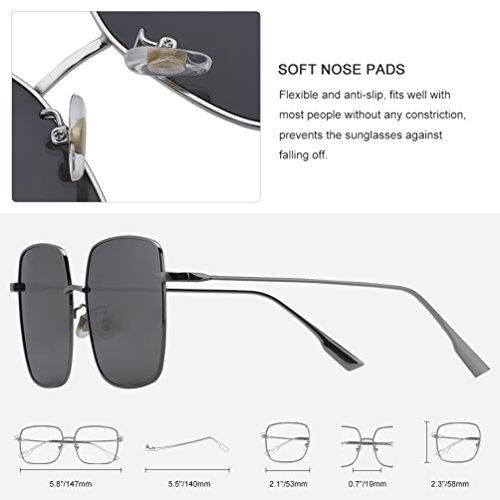 Chic Sunglasses Mujer de Vbiger para Sol Gafas gris Vintage dwg0xIq0