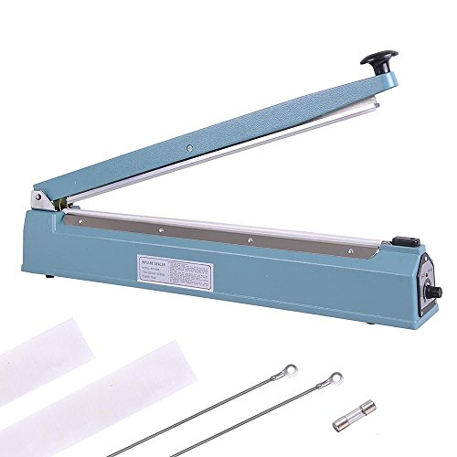 "Yescom 20"" 500mm Impulse Manual Hand Sealer Heat Sealing Machine Poly Tubing Plastic Bag"