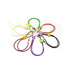 Maxloom Colorful Cartoon Adjustable Reading Glasses Eyewear Eyeglass Cord Neck Strap for Kids 6pcs/pack 45cm/17.5in