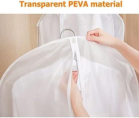 BJ-SHOP Kleidersack,Kleiderhullen Staubdicht Anzug Covers Taschen Transparent Kleid Covers Feuchtigkeitsbestandig Staubdicht Kleidung Protektoren fur Home Dry Cleaners
