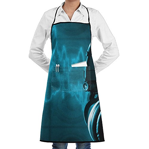 Love Music Sewing Aprons With Pocket Kits Adjustable Home Kitchen Apron ()