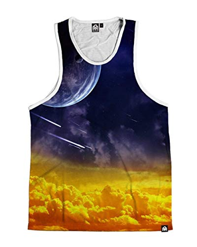 (INTO THE AM Shooting Skies Men's Sleeveless Tank Top Shirt (X-Large))