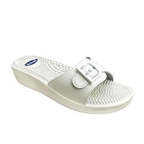 Scholl New Massage Fitness-Sandalen Weiß