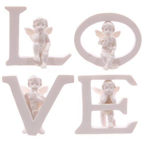 White Cherub L O V E Letters - Set of 4 Letters