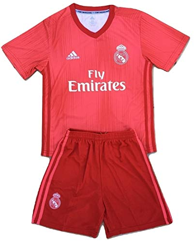 Nikol-Tamara 2018-2019 Real Madrid Champions League Youths Soccer Jersey & Shorts (7-8 Years Old)