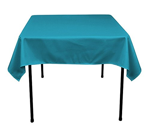 Gee Di Moda Square Tablecloth - 52 x 52 Inch - Caribbean Square Table Cloth for Square or Round Tables in Washable Polyester - Great for Buffet Table, Parties, Holiday -