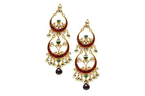 StyleDeco Indien Traditionnel Mode Plaqué or Des boucles d'oreilles Pour Femmes Mariage Fête Goujons