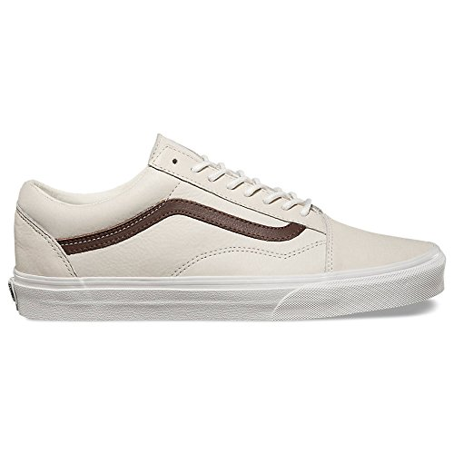 794b1bf82051b4 Galleon - Vans Unisex Old Skool Beige Brown Leather Fashion Sneakers Shoes  (10.5 Men 12 Women)