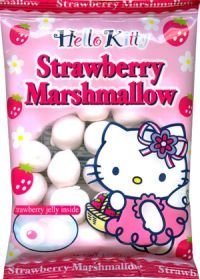 11ea2d5e12 Image Unavailable. Image not available for. Color  Hello Kitty Marshmallow  - Strawberry Marshmallow Snacks Japanese Candy