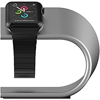 Nomad Stand for Apple Watch for Use with 38mm & 42mm (All Versions) – Silver