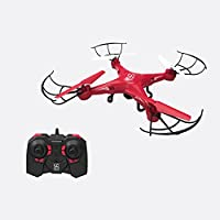 SKYKING RC Toy Drone with HD Camera S-08C Photo Taking & Video Recording Quadcopter with SD Card 6-Axis Gyro FCC Warranty Red Flying Drones