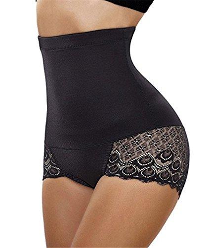 0c959a228 LeaLac Maidenform Flexees Women s Shapewear Hi-Waist Brief Firm Control  DuanMeitiku1 Black XL by LeaLac