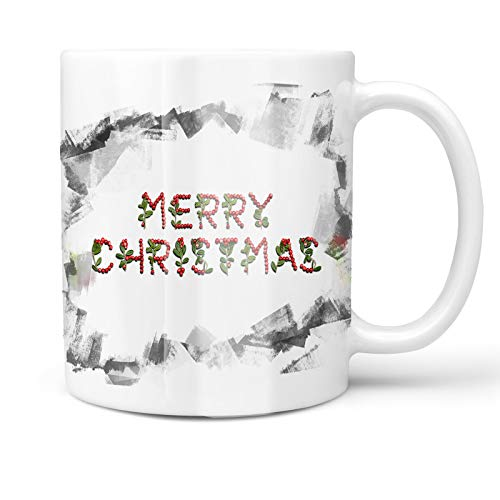 - Neonblond 11oz Coffee Mug Merry Christmas Cranberries Fruits with your Custom Name