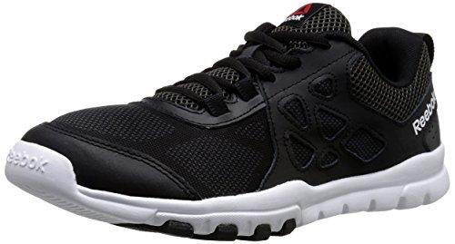 Reebok Men's Sub Lite Train 4.0 L MT Training Shoe, Black/Gravel/White, 8.5 M US