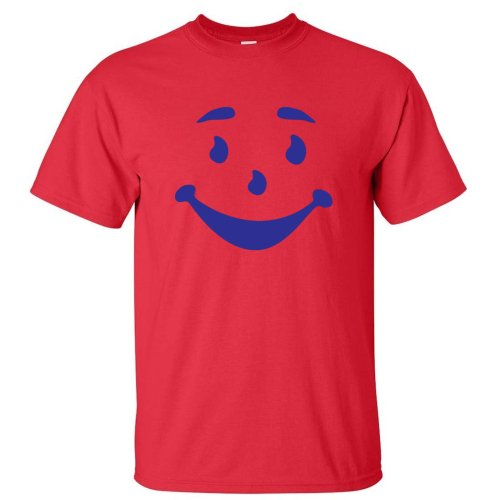 MAN FACE FUNNY OH YEA KOOL COOL AID MENS T-SHIRT Red