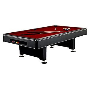 Eliminator Black Pool Table   Contemporary Design   7 And 8 Foot   Free  Premier Felt And Premium Accessory Set