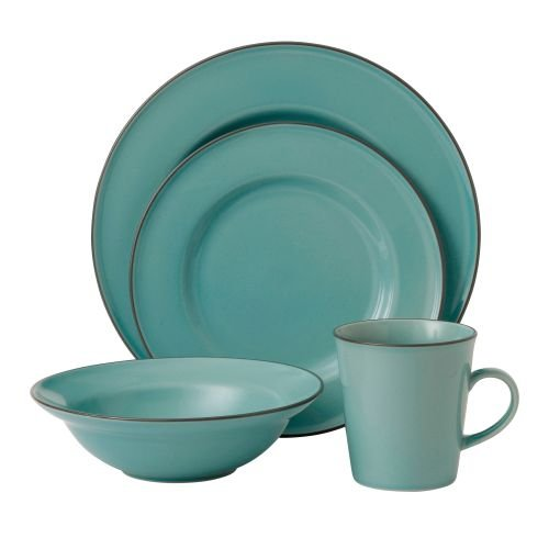 Royal Doulton Union Street 4 Piece Dinnerware Set, Blue