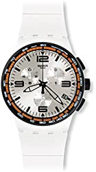 Swatch SUSW405 White Blades Mens Watch