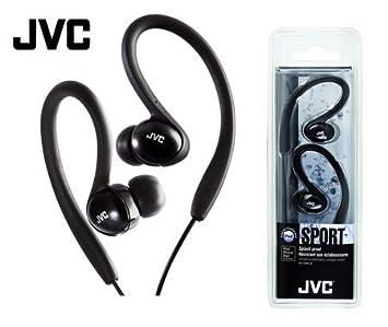 JVC a prueba de salpicaduras auriculares deportivos negro HAEBX5 ...