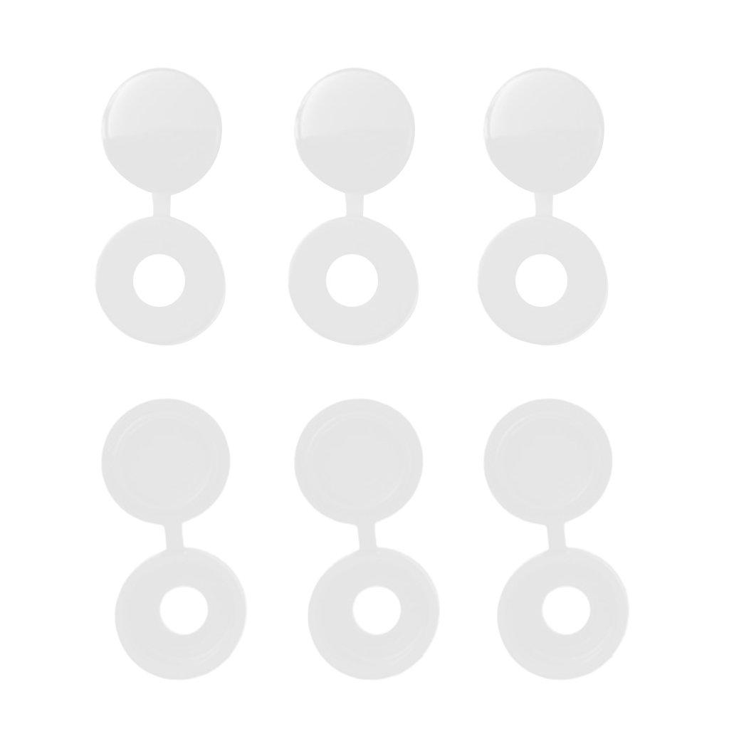 MagiDeal 100 St/ück Kleine Schraubenabdeckkappen Kunststoff Schrauben Abdeckungen Abdeckkappen Grau