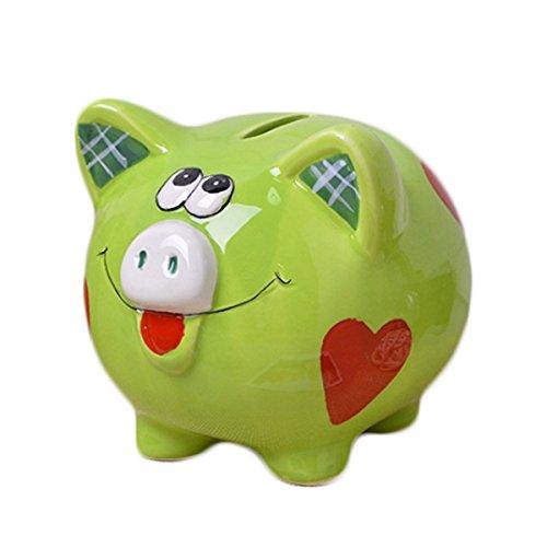 Baby Blue Pig (Romantiko Girls Pig Piggy Bank Blue Baby Nursery Decor (green2))